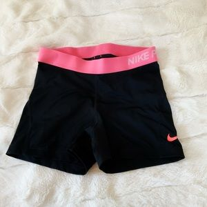 Nike spandex with a pink outlining